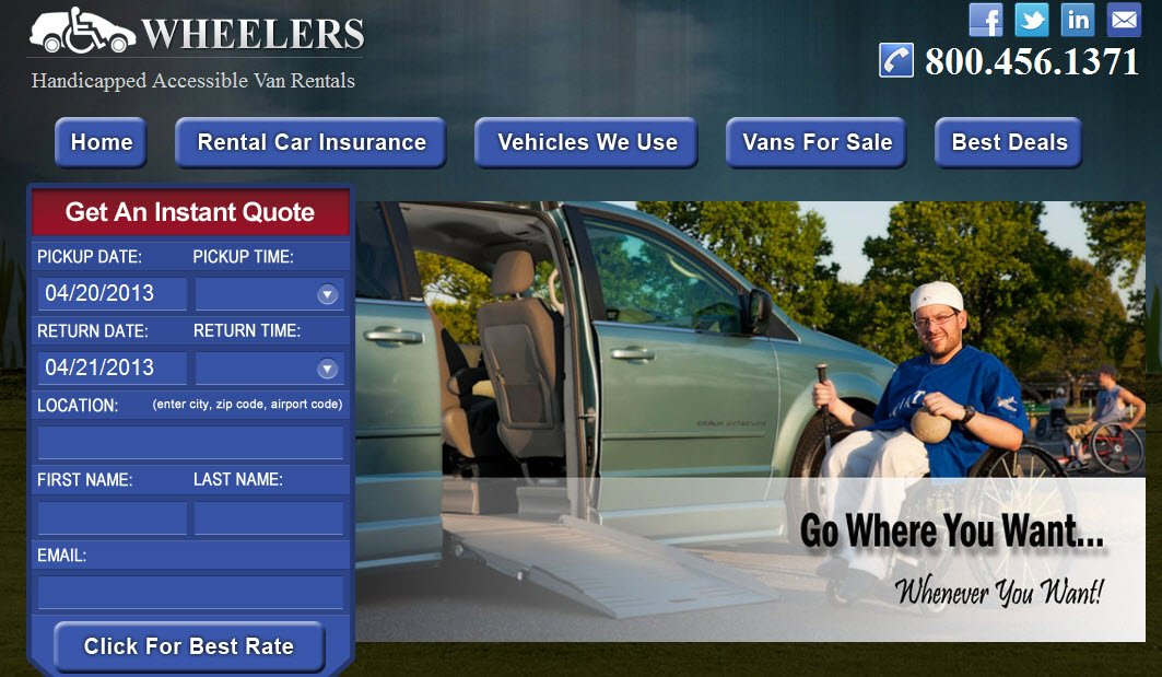 Nationwide Accessible Van Rental Company Launches New Website